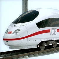 High Speed Train - ICE 3 Siemens Velaro with Interior