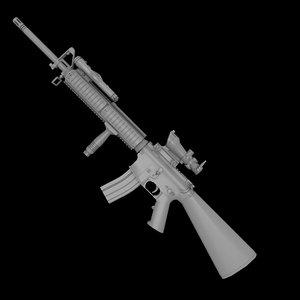 3d model m16a4 acog m16 assault
