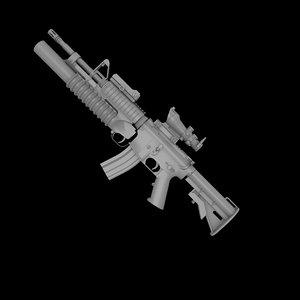 3d model of m4a1 rifle m4