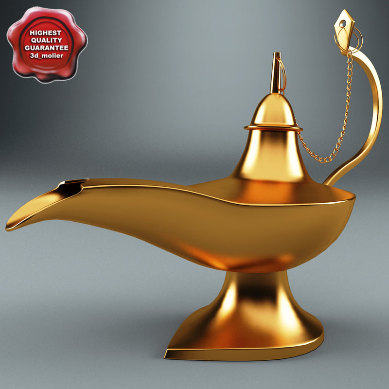 magic lamp 3d max