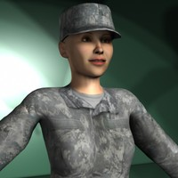 3d ma military characters