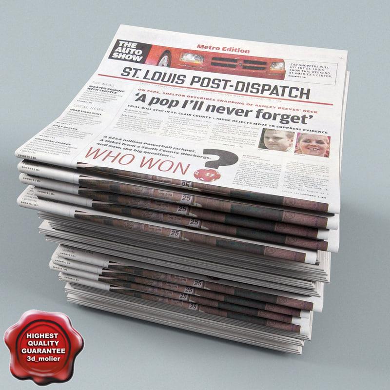 3dsmax newspapers v4