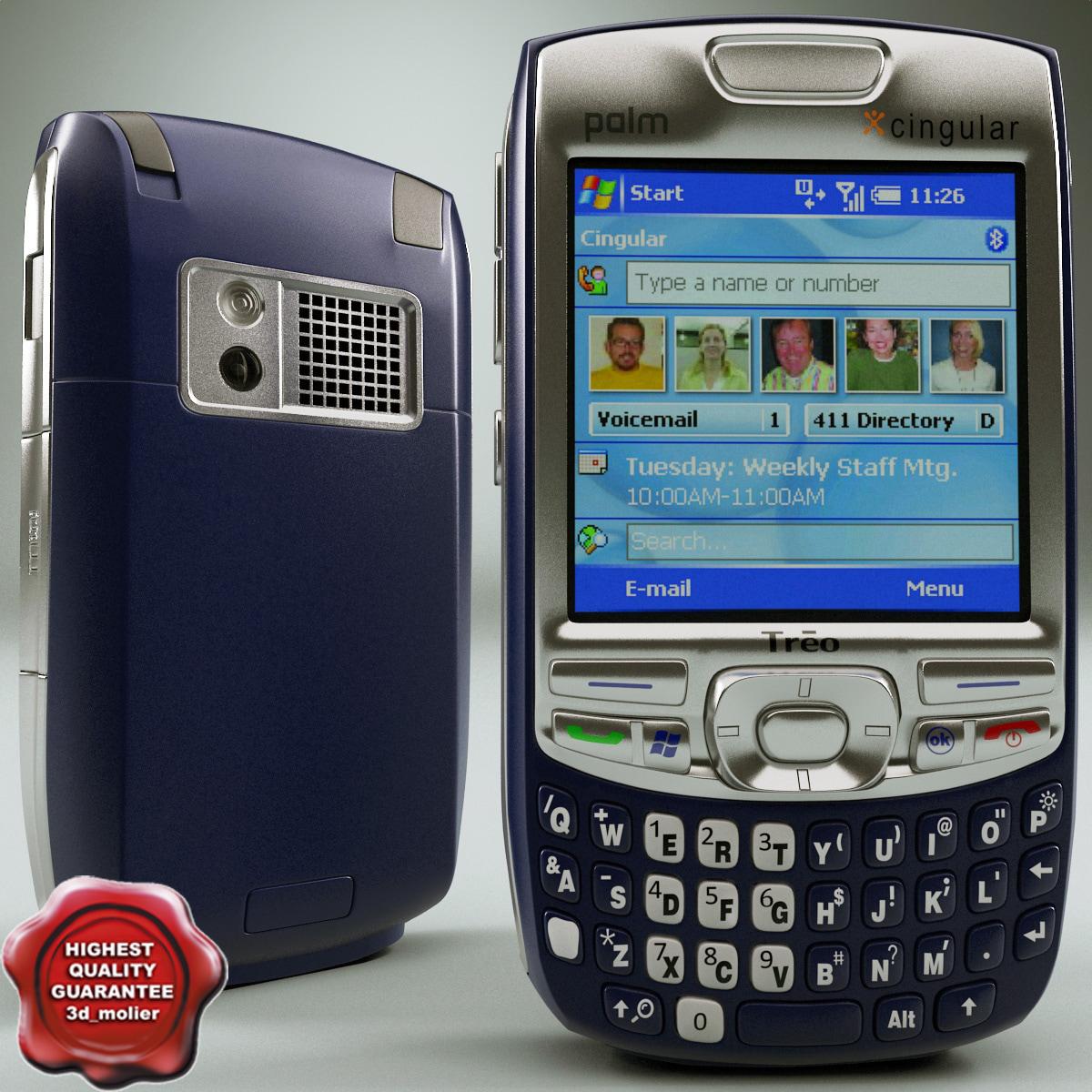 3d palm treo 750 blue