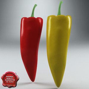 peppers hot 3d model