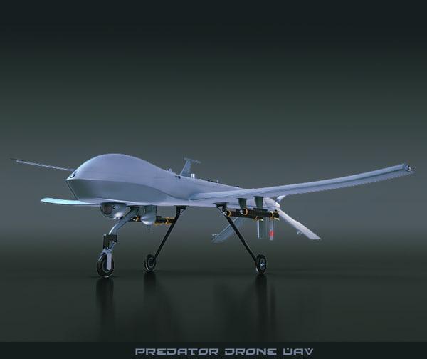 3d predator drone uav
