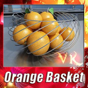 3d fruit basket orange resolution