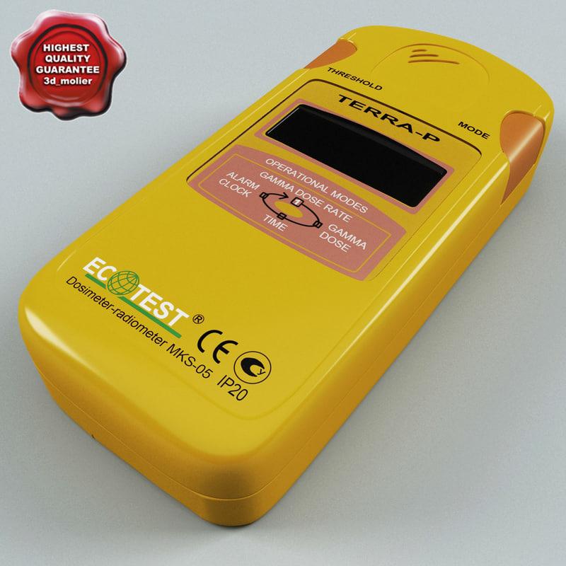 radiation detector dosimeter terra-p 3d model