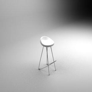 3d retro chair model