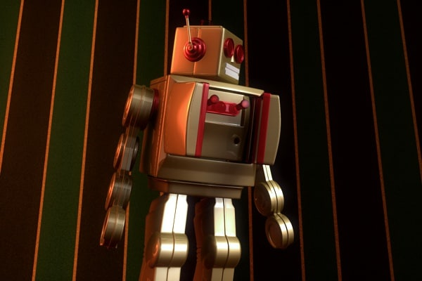 old toy robot 3d model
