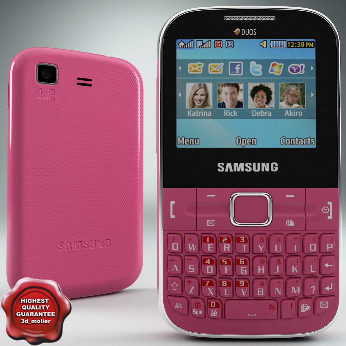 3dsmax samsung c3222 pink