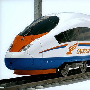 speed train - sapsan 3d max