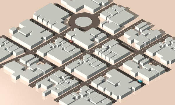 isometric city 3d c4d