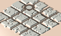 isometric city 3d c4d