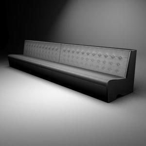 straight capitonage sofa 3d max
