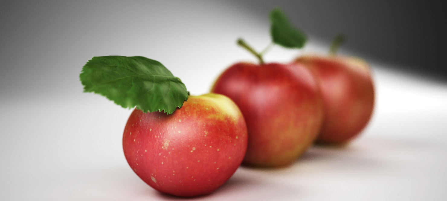max realistic apple fruit