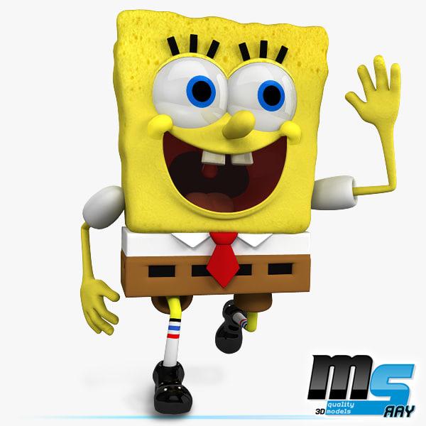cartoon bob sponge squarepants 3d max