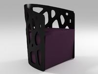 3d model mazy armchair