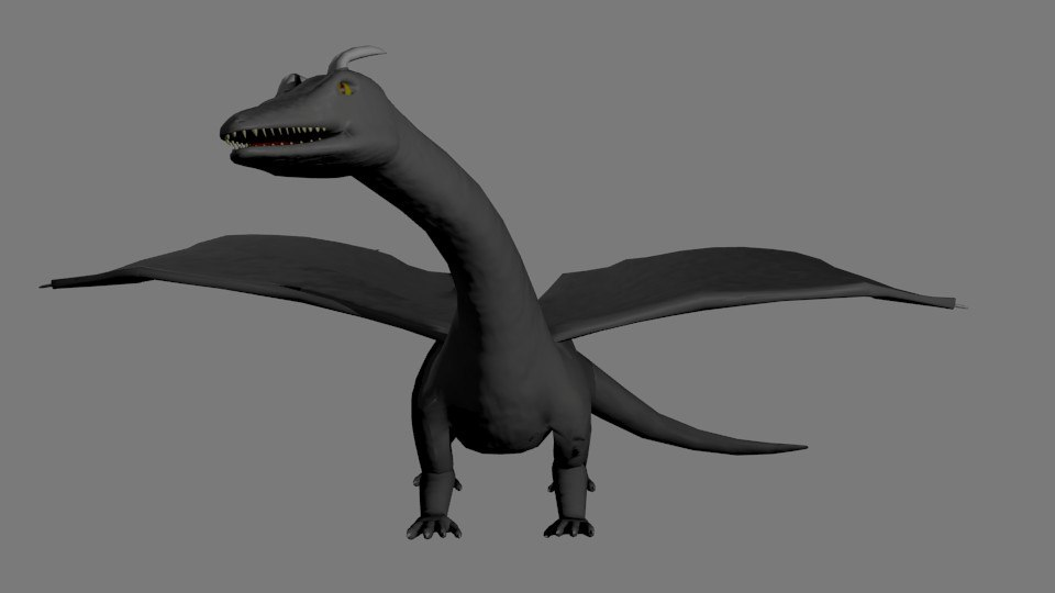 dragon rigged 3d 3ds