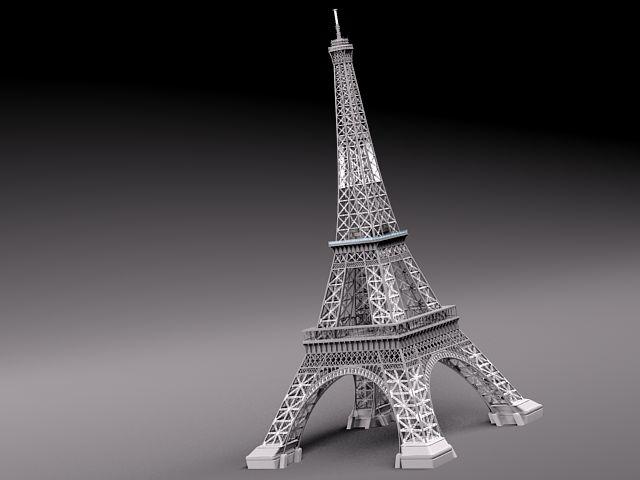 3d model eiffel tower landmark architecture