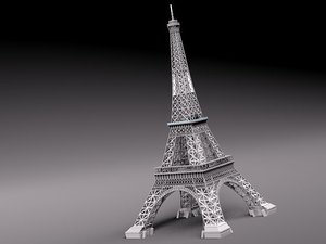 3d model eiffel tower landmark architecture