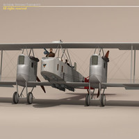 3d model german bomber pilot gotha