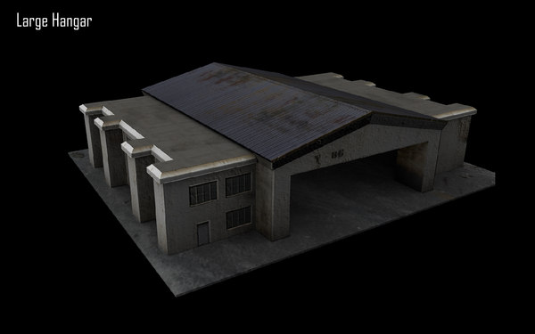 military hangar 3d ma