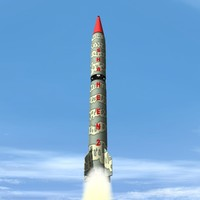 3d hatf-vi missile mrbm pakistan model
