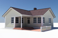 3d story single family house materials model