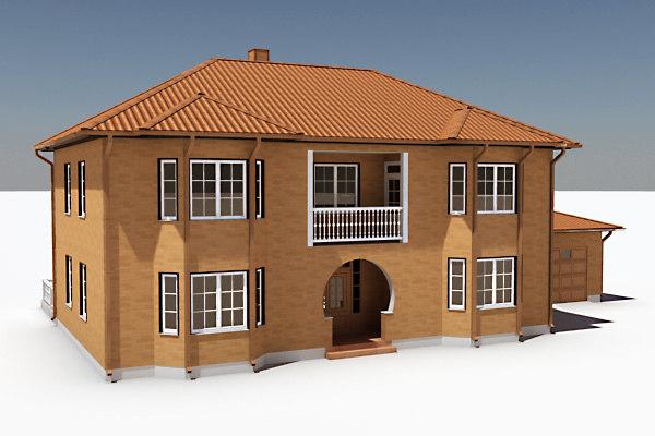 3d model story single family house