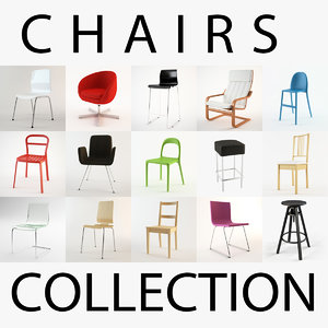 3ds max ikea chairs collections