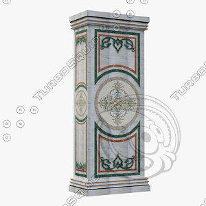 marble column design dxf