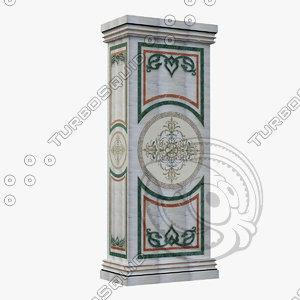 marble column design dxf