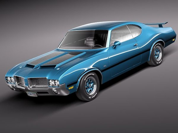 3d oldsmobile cutlass 4-4-2 sport model