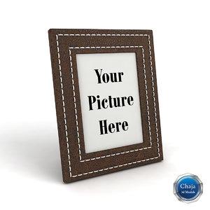 3d model photo frame