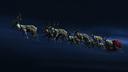 Santa Sleigh Santa Deers Cristmas RIGGED Reindeers Animated