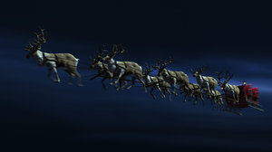 fred rigged reindeers sleigh 3d ma