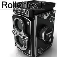 rolleiflex camera 3d model