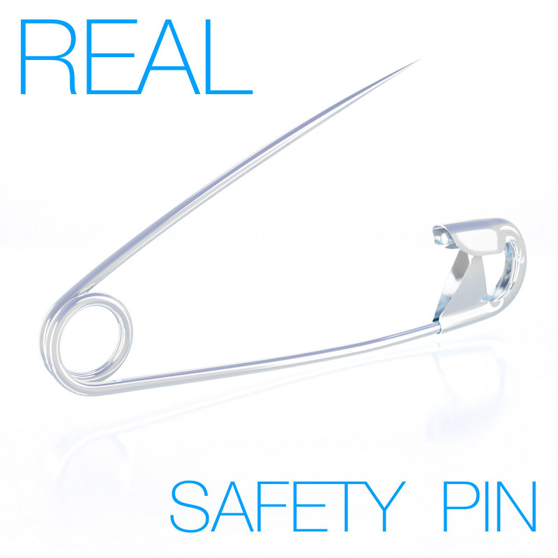 safety pin 3d model