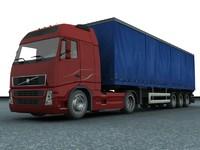 3d model new truck trailer