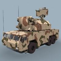 3d 3ds russian tor-m2e tor sa-15 gauntlet