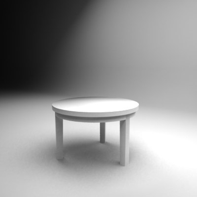 white table 3d max