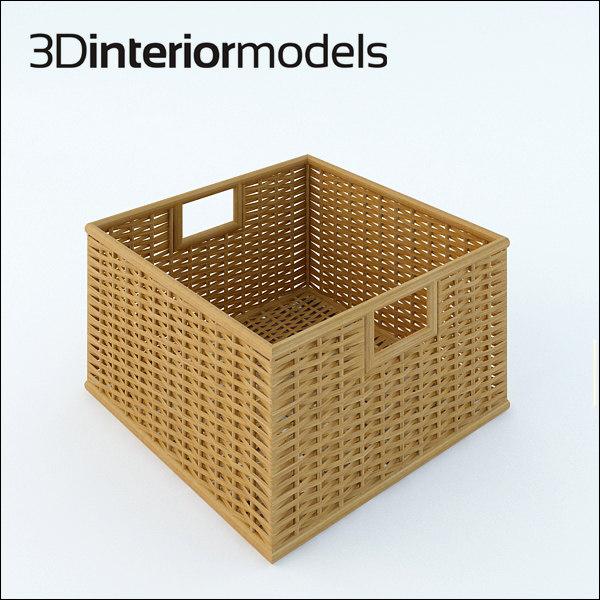 3ds wicker box