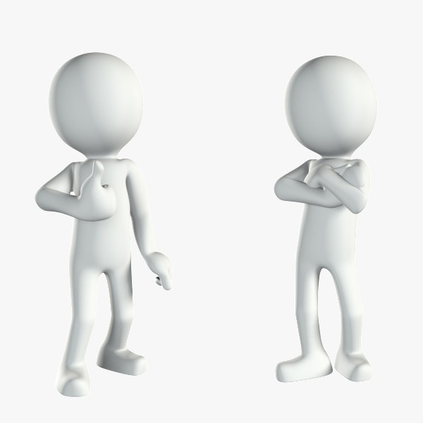 character white human stickman 3d model