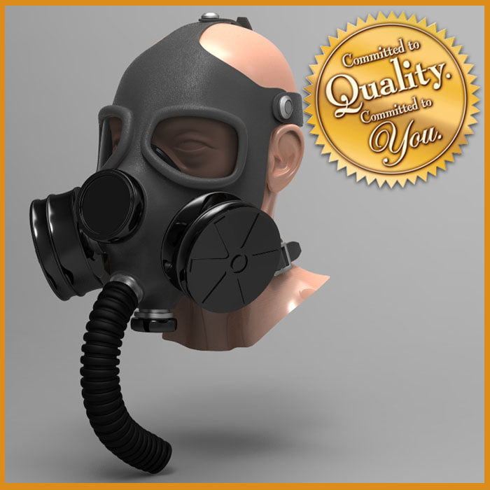 gas mask head 3d model