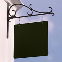hanging sign 3d 3ds
