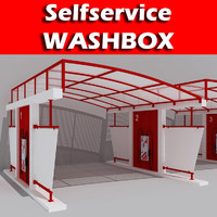 3d selfservice washbox model