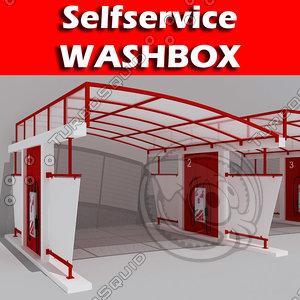 3d selfservice washbox model