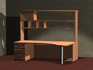 computer desk 3d model