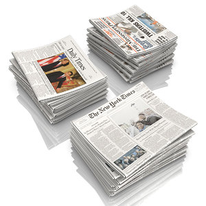 newspaper news paper 3d model