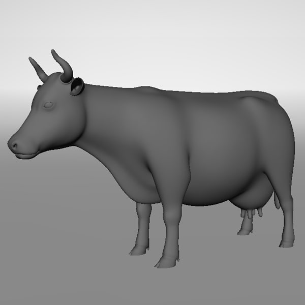 3d model cow product